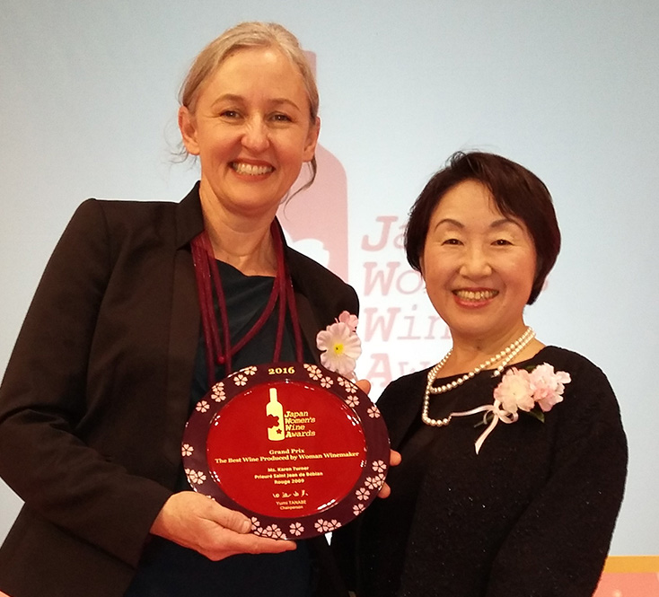 "Karen Turner is the Best Woman Winemaker by ""Sakura"" Japan Women's Wine Awards 2016"